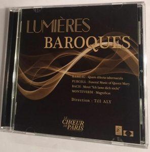 Lumières Baroques – le premier CD du Choeur de Paris